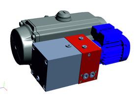 Hydraulischer PANDA Schwenkantrieb von KTC Systemtechnik