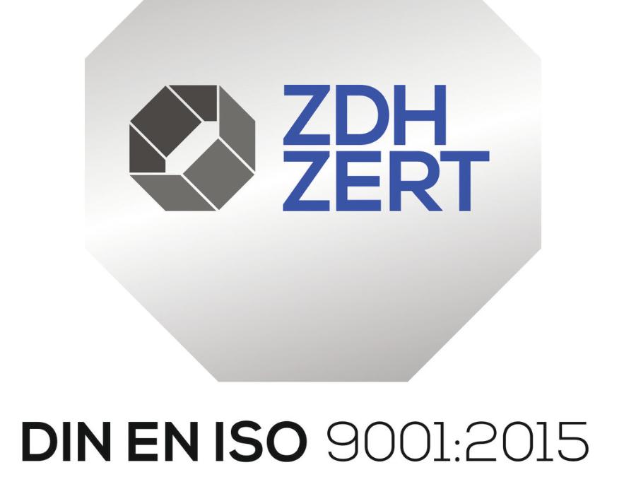 ZHD ZERT DIN EN ISO 9001:2015