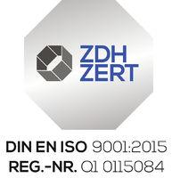 Managementsystem zertifiziert nach DIN EN ISO 9001:2015